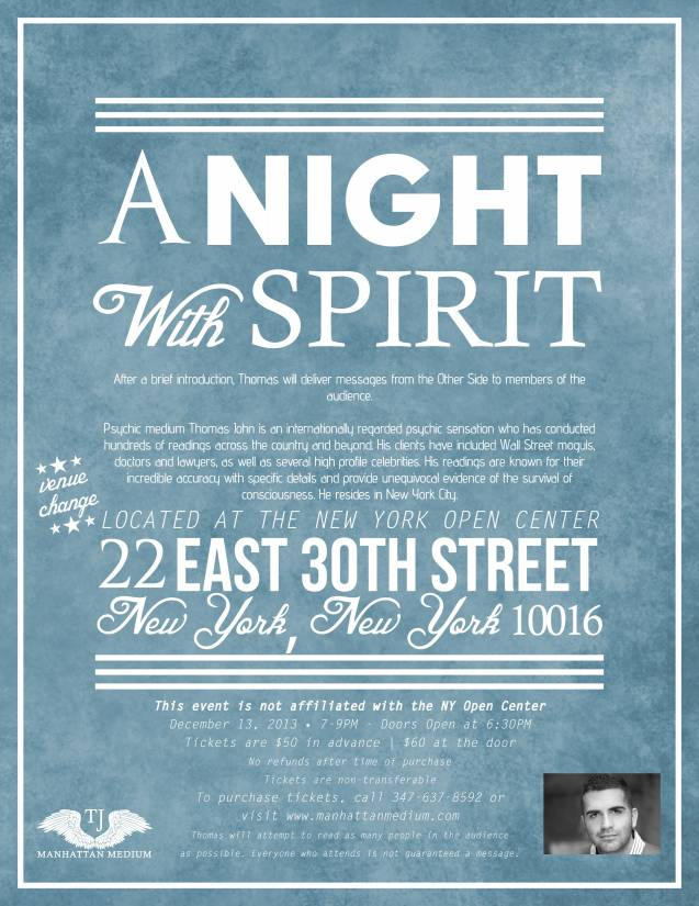 Thomas John Night With Spirit NYC